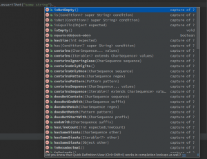 IDE's code completion features