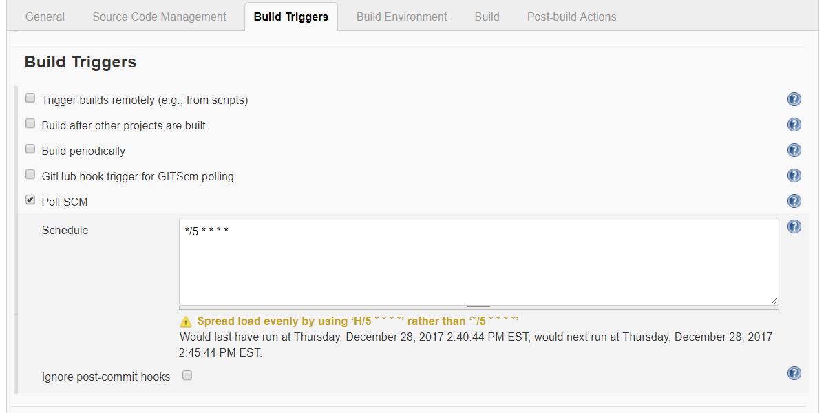 Hook up scm change notification to hudson