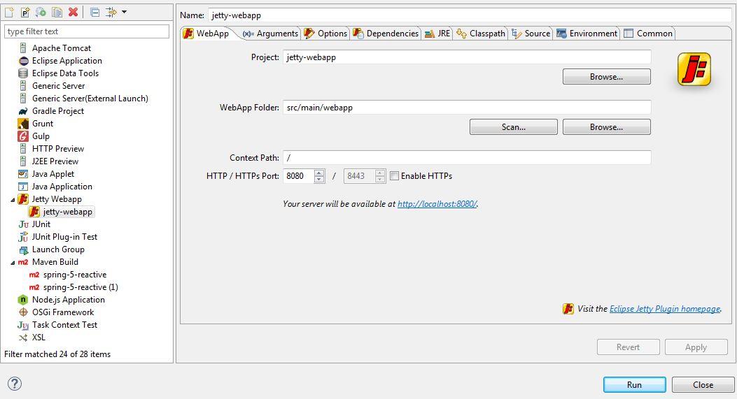 Jetty Configuration in Eclipse | Baeldung
