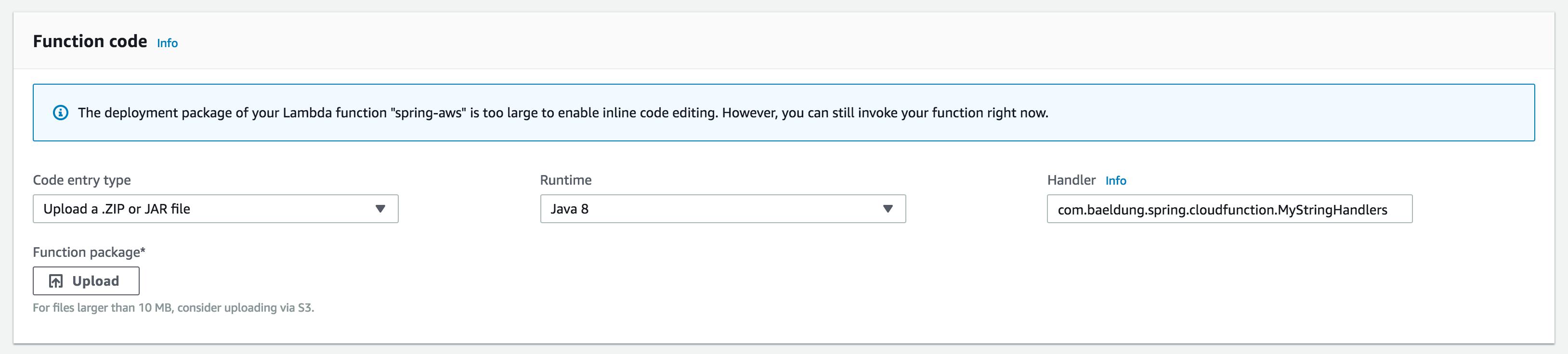 Serverless Functions with Spring Cloud Function | Baeldung
