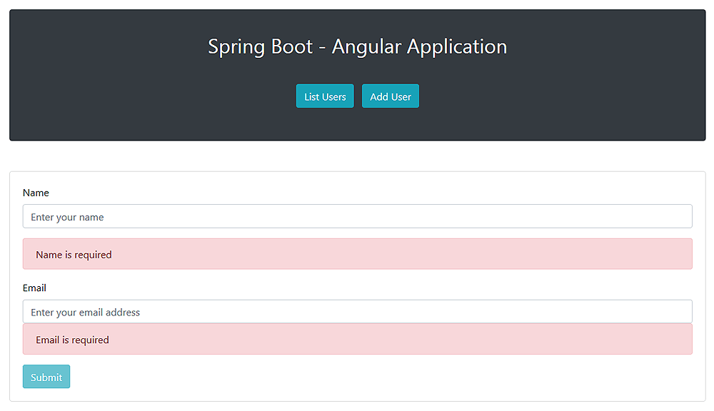 Building a Web Application with Spring Boot and Angular