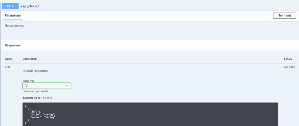Swagger UI API Details